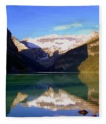 Butterfly Phenomenon At Lake Louise Fleece Blanket