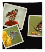Butterfly Picture Page Collage Fleece Blanket