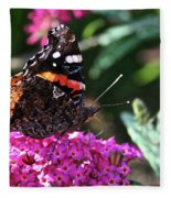 Butterfly Plant At Work Fleece Blanket