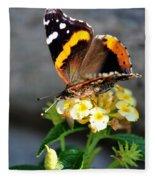 Butterfly Sipping Lantana Luscious Lemonade   Fleece Blanket