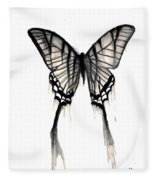 Butterfly Tears 2 Fleece Blanket