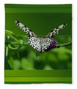 Butterfly White 16 By 20 Fleece Blanket