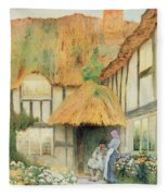 By The Cottage Door Fleece Blanket
