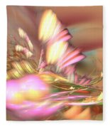 By The Field - Abstract Art Fleece Blanket by Sipo Liimatainen