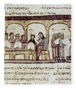 Byzantine Philosophy School Fleece Blanket