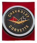 C1 Corvette Emblem Fleece Blanket