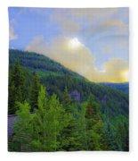 Cabin On The Mountain - Vail Fleece Blanket