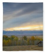 Cabin With A View Fleece Blanket