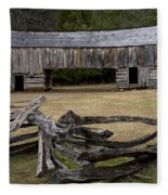 Cable Mill Barn In Cade's Cove No.122 Fleece Blanket