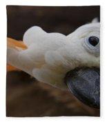 Cacatua Sulphurea Citrinocristata - Citron Crested Cockatoo Fleece Blanket