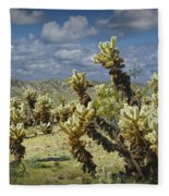 Cactus Also Called Teddy Bear Cholla Fleece Blanket