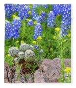 Cactus And Bluebonnets 2am-28694 Fleece Blanket
