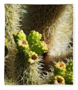 Cactus Buds Fleece Blanket