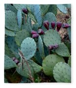 Cactus Plants Fleece Blanket
