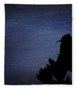 Cactus Wren In The Night Fleece Blanket