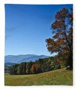 Cades Cove Landscape Fleece Blanket