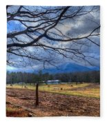 Cades Cove Lane Fleece Blanket