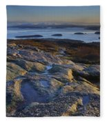 Cadillac Mountain And Frenchman's Bay Fleece Blanket