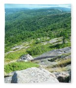 Cadillac Mountain Rocky View Fleece Blanket