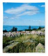 Cadillac Mountain Summit View Fleece Blanket