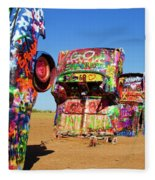 Cadillac Ranch 2  Fleece Blanket