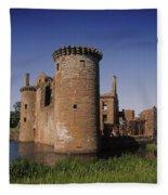 Caerlaverock Castle, Dumfries, Scotland Fleece Blanket