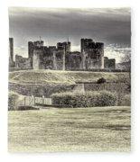 Caerphilly Castle Cream Fleece Blanket