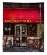 Cafe - Ny - Chelsea - Mappamondo  Fleece Blanket