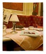 Cafe Sacher - Vienna Fleece Blanket