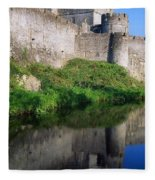 Cahir Castle, River Suir, County Fleece Blanket