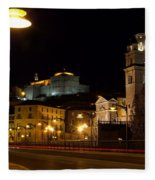 Calahorra Cathedral At Night Fleece Blanket