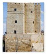 Calahorra Tower In Cordoba Fleece Blanket