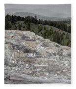 Calcite Bench - Mammoth Hot Springs Fleece Blanket