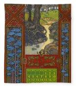 Calendar, 1923 Fleece Blanket