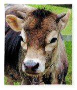 Calf Closeup Fleece Blanket