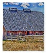 Calgary Barn Hdr Fleece Blanket
