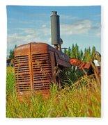 Calgary Tractor Fleece Blanket