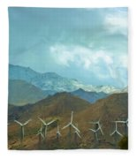 California Desert In Winter Fleece Blanket