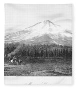 California: Mount Shasta Fleece Blanket