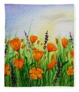 California Poppies Field Fleece Blanket