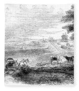 California: Vallejo, 1852 Fleece Blanket