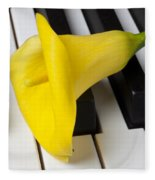 Calla Lily On Keyboard Fleece Blanket