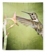 Calliope Hummingbird  Fleece Blanket