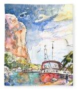 Calpe Harbour 04 Fleece Blanket