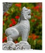 Cambodian Lion Fleece Blanket