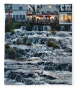 Camden Maine Waterfalls Fleece Blanket