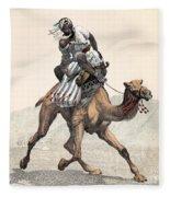 Camel & Rider Fleece Blanket