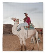 Camel Riders Fleece Blanket