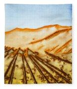 Camel Shadows Fleece Blanket