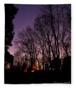 Camp Fire Sunset Fleece Blanket